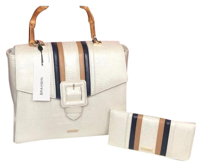 Item - 2pc Ingrid Daydream & Wallet White Leather Satchel