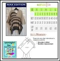 Max Edition Wide Awning V-neck Batwing Sleeves Poncho Style Knit Beige/Gray Sweater Max Edition Wide Awning V-neck Batwing Sleeves Poncho Style Knit Beige/Gray Sweater Image 12