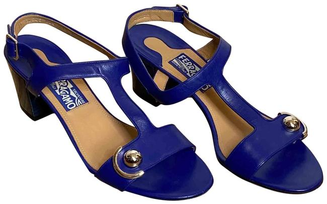Item - Zaffiro Blue Polaina Leather 0574257 Sandals Size US 9.5 Regular (M, B)