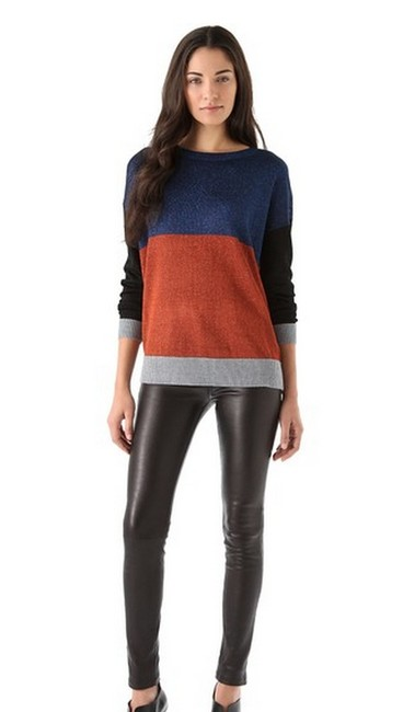 Tibi Sparkle Colorblock Designer Day To Night Holiday Sweater