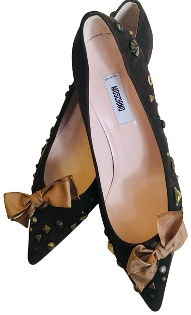 Item - Brown Pointed Toe Embellished Pumps Size EU 40 (Approx. US 10) Regular (M, B)