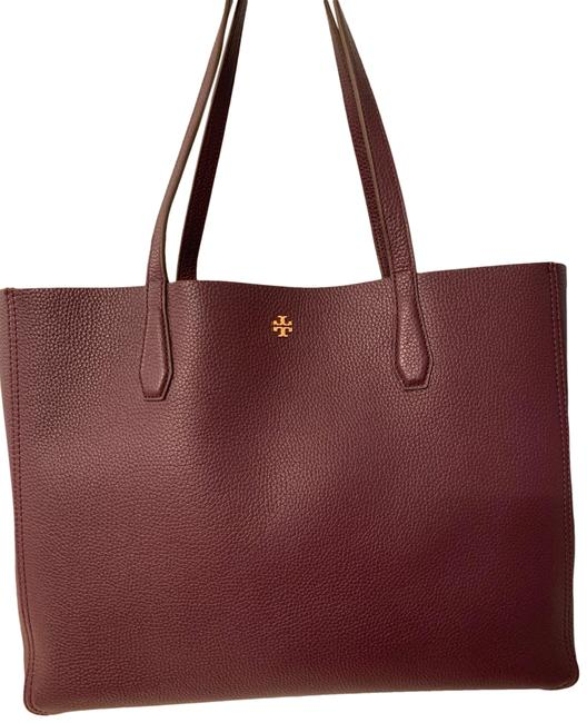 Item - Reversible Blake New Plum/Blossom Floral Leather Tote
