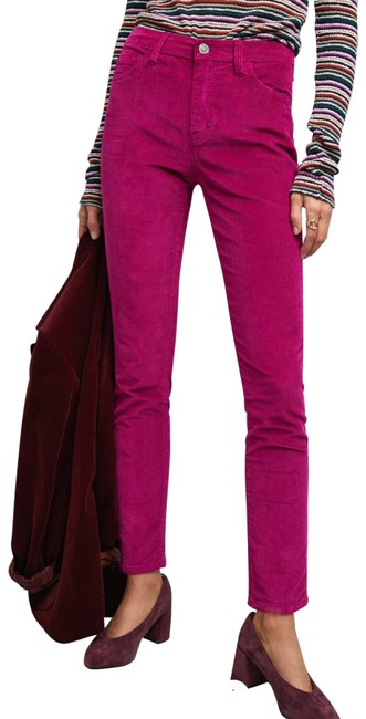 Item - Magenta/Aster The Stiletto High Waist Ankle Corduroy Pants Skinny Jeans Size 0 (XS, 25)