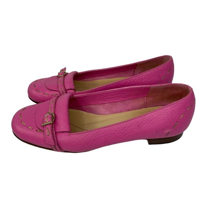 Item - Pink Leather Loafers Flats Size US 6 Regular (M, B)