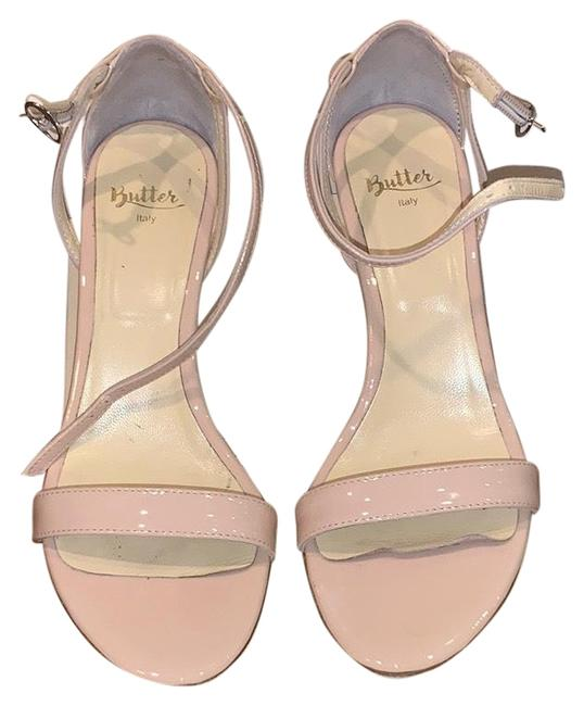 Item - Nude Patent Evening Sandal Formal Shoes Size US 7 Regular (M, B)