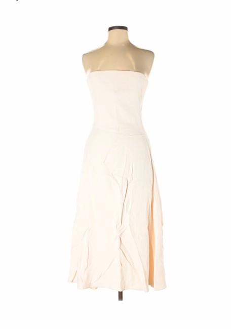 Item - Ivory and Pink Strapless Mid-length Formal Dress Size 8 (M)