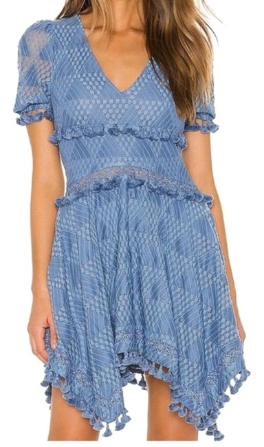 Item - Slate Blue Felice Short Casual Dress Size 12 (L)