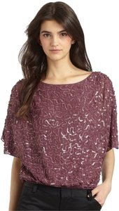 Alice + Olivia Sequin Embellished Designer Top Purple