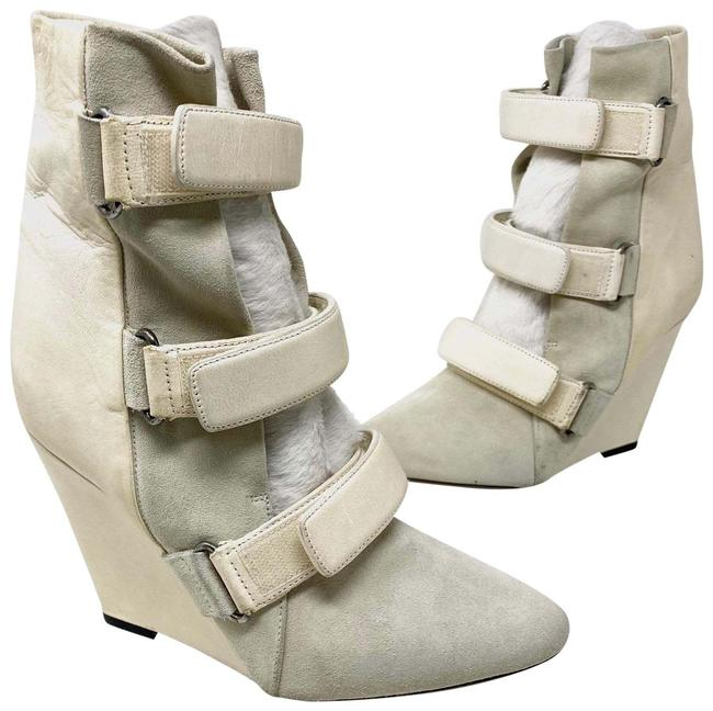 Item - Ecru White Scarlet Leather Wedge Boots/Booties Size EU 39 (Approx. US 9) Regular (M, B)