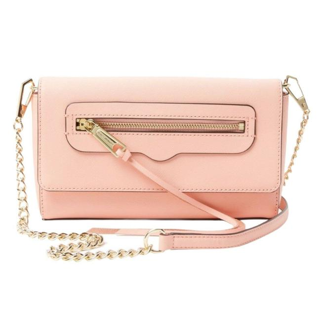 Item - Clutch Avery Envelope Detachable Strap Pink Leather Cross Body Bag