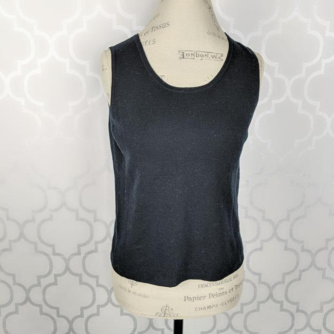 Eileen Fisher Black Knit Tank Top/Cami Size 8 (M) Eileen Fisher Black Knit Tank Top/Cami Size 8 (M) Image 2