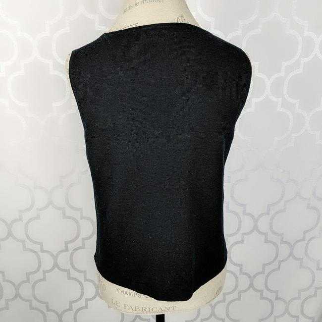 Eileen Fisher Black Knit Tank Top/Cami Size 8 (M) Eileen Fisher Black Knit Tank Top/Cami Size 8 (M) Image 3