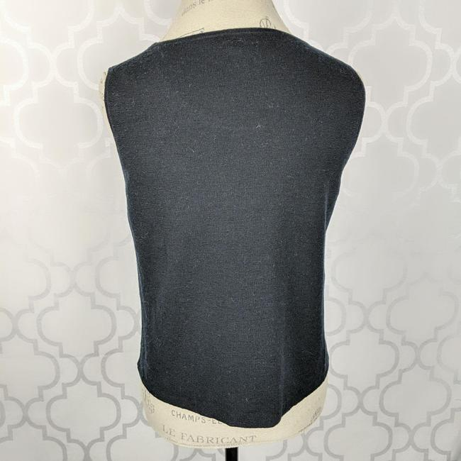 Eileen Fisher Black Knit Tank Top/Cami Size 8 (M) Eileen Fisher Black Knit Tank Top/Cami Size 8 (M) Image 4
