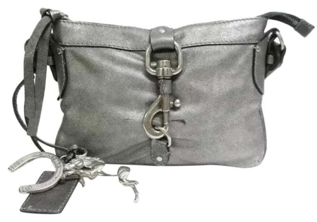 Item - Lucky Horseshoe Charms Silver Leather Cross Body Bag