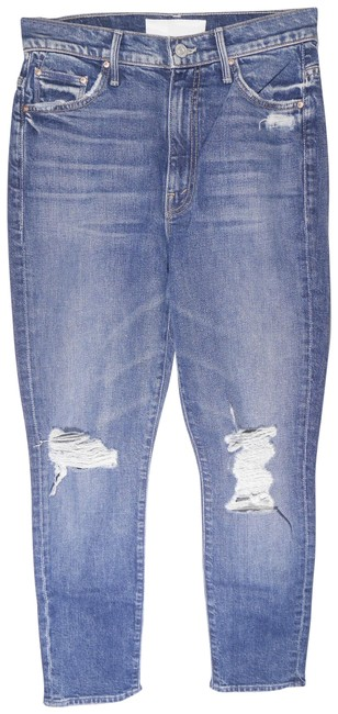Item - Blue Distressed Superior - Swooner High-rise Crop In Your Treat Or Mine Skinny Jeans Size 26 (2, XS)