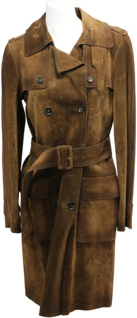 Item - Brown Women's Suede Belted Coat Size 6 (S)