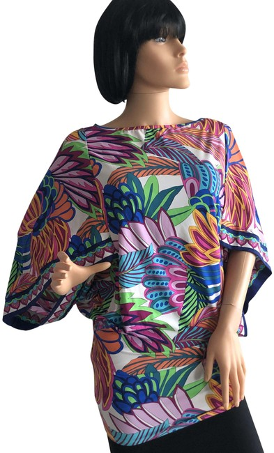 Item - Multicolor Tunic Top Cover-up/Sarong Size 8 (M)