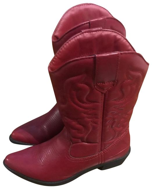 Item - Red Na Boots/Booties Size US 7.5 Regular (M, B)