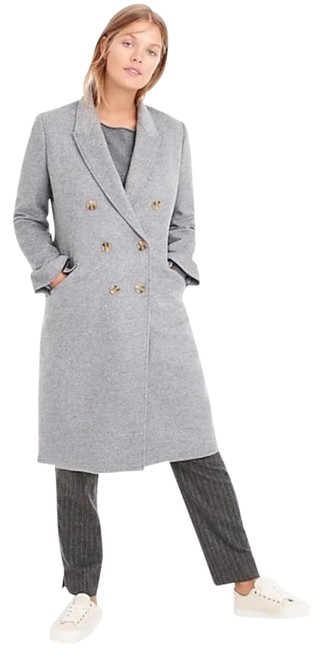 Item - Heather Grey Double-breasted Topcoat In Italian Wool-cashmere Coat Size 00 (XXS)