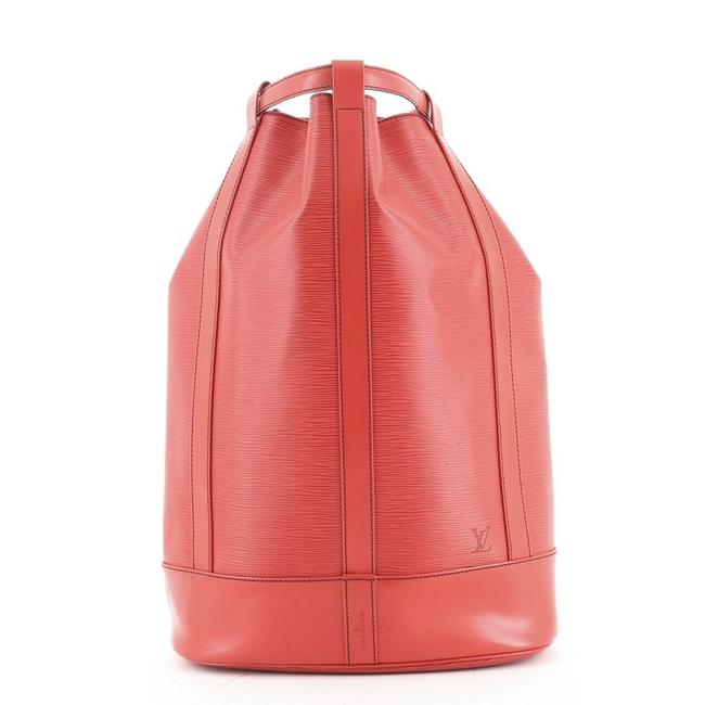 Item - Randonnee Gm Red Leather Backpack