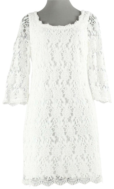 Item - Lace Overlay Mid-length Night Out Dress Size 8 (M)