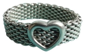 Tiffany & Co. Mesh With Heart Retired Ring