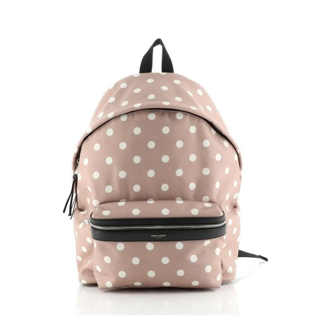 Item - Printed Pink White Canvas Backpack