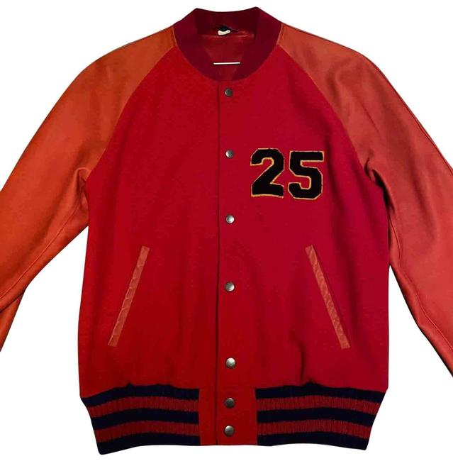 Item - Red Letterman Jacket Size OS (one size)