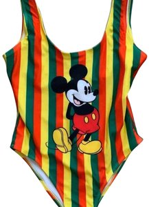 Forever 21 Forever 21 Mickey Mouse Striped Swimsuit S