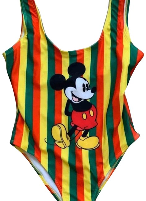 Forever 21 Mickey Mouse Striped Swimsuit S One-piece Bathing Suit Size 4 (S) Forever 21 Mickey Mouse Striped Swimsuit S One-piece Bathing Suit Size 4 (S) Image 1