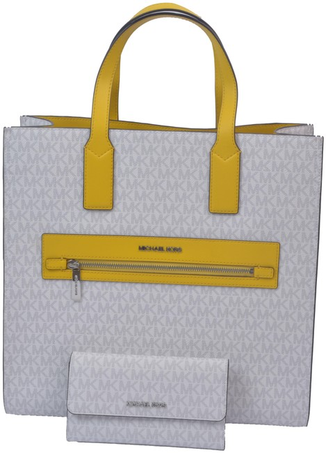 Item - Set Yellow and White Leather Shoulder Bag