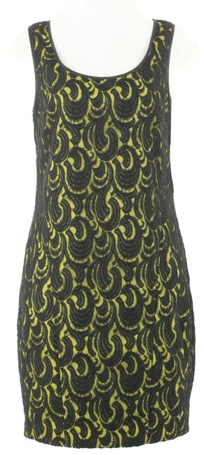 Item - Black Lace Overlay Short Casual Dress Size 6 (S)