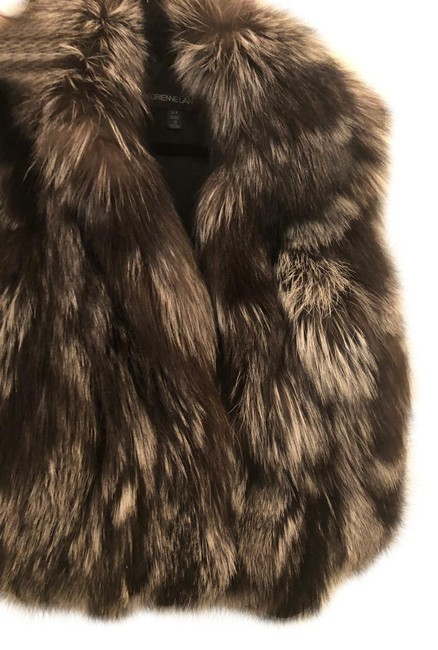 Item - Black and Silver Real Fox Fur Vest Size 4 (S)
