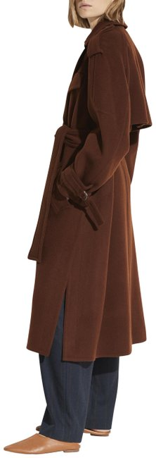 Item - Mahogany Belted Wool Blend Lined Coat Size 12 (L)