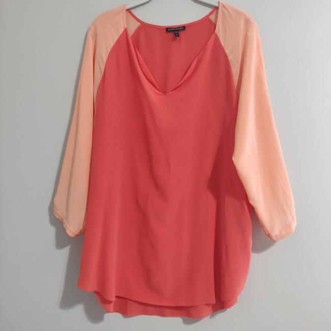 Item - Peach Silk Tunic Blouse Size 8 (M)