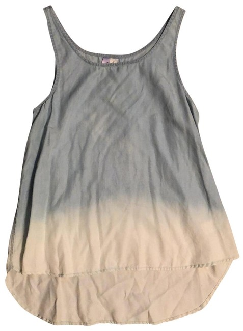 Item - White and Blue Ombré Sleeveless Tank Top/Cami Size 4 (S)