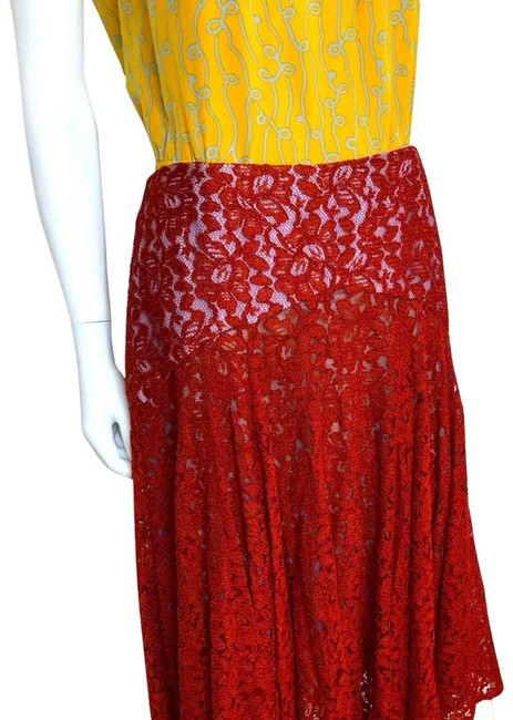 Item - Orange Moulinette Soeurs Nolana Lace A Line Skirt/Size Skirt Size 6 (S, 28)