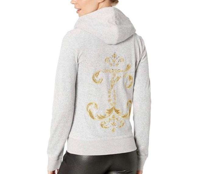 Juicy Couture Grey Velour Robertson Track Jacket Sweatshirt/Hoodie Size 4 (S) Juicy Couture Grey Velour Robertson Track Jacket Sweatshirt/Hoodie Size 4 (S) Image 1