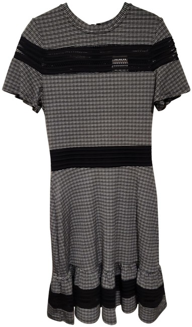 Item - Black and White Plaid Short Work/Office Dress Size OS