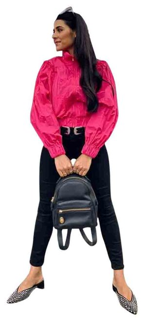 Item - Fuchsia High Collar Jacket Size 4 (S)