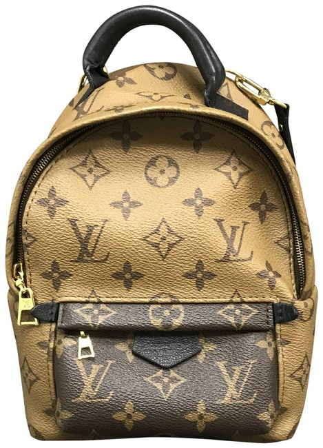 Item - Palm Springs Reverse Brown and Tan Monogram Canvas Backpack