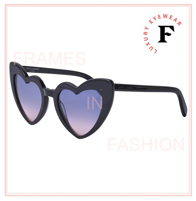 Item - Black Violet Monogram Loulou 181 Ysl Sl181 Heart Unisex 009 54mm Sunglasses