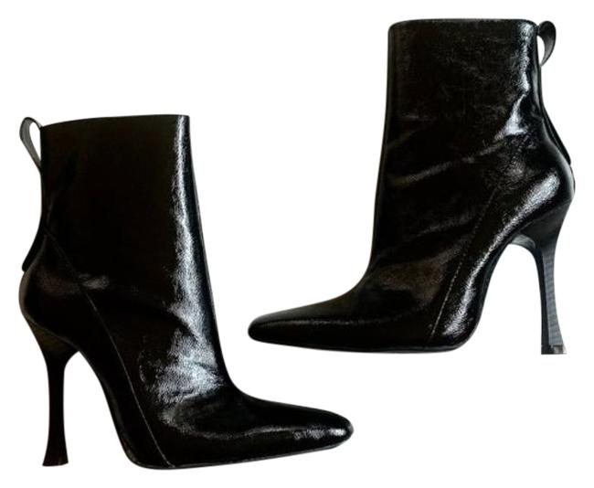 Item - Black Patent Leather Point Toe Heeled Boots/Booties Size US 5 Narrow (Aa, N)