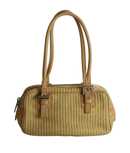 Item - Raffia (191748) Tan Canvas Satchel