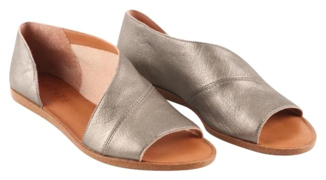 Item - Bronze Celvin Pewter Leather Sandals Mules/Slides Size US 7.5 Regular (M, B)