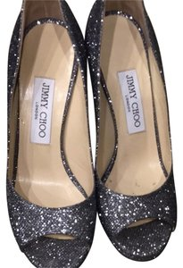 Jimmy Choo Silver Gray Pumps