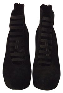 Brian Atwood Suede Black Boots