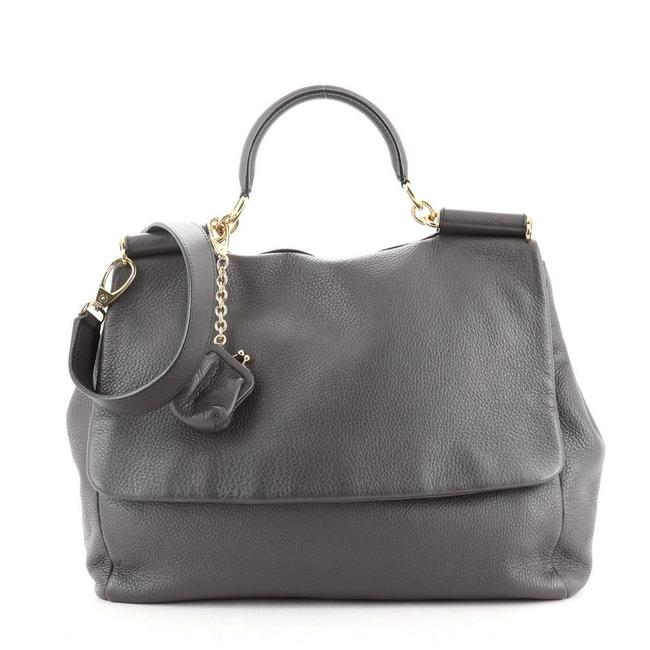 Item - Soft Miss Sicily Large Gray Leather Satchel