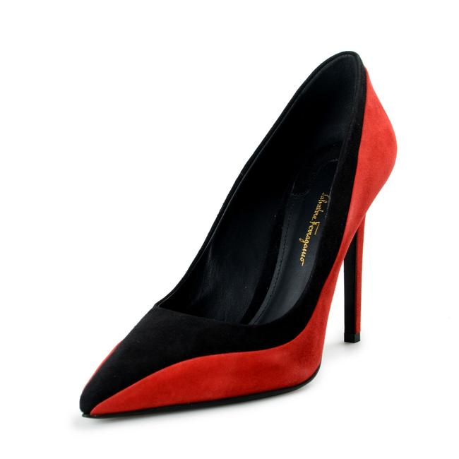 """Item - Red / Black Women's """"Gigliox5"""" Suede Leather High Pumps Size US 10.5 Wide (C, D)"""