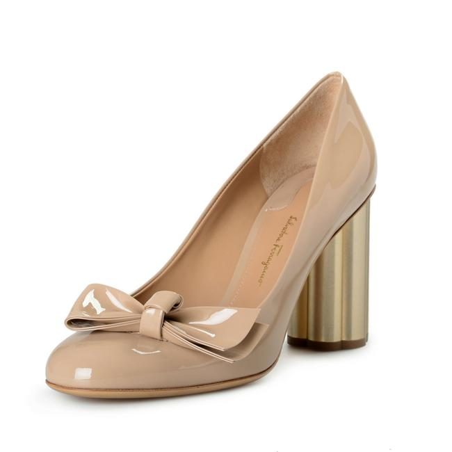 "Item - Almond Beige Women's ""Avola85"" Patent Leather High Pumps Size US 9.5 Wide (C, D)"